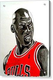 Air Jordan Raging Bull Drawing Acrylic Print by Keeyonardo