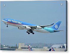 Air Tahiti Nui Airbus A340-313x F-osea Los Angeles International Airport May 3 2016 Acrylic Print by Brian Lockett