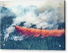 Air Tanker On Crow Peak Fire Acrylic Print