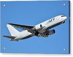 Air Transport International Boeing 767-232 N763cx Phoenix Sky Harbor January 19 2016  Acrylic Print by Brian Lockett