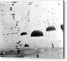 Airborne Mission During Ww2  Acrylic Print by War Is Hell Store