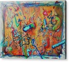 Digital Landscape, Airbrush 1 Acrylic Print