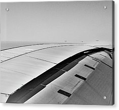 Airbus A380 Wing - Abstract  Acrylic Print by Steven Ralser