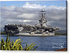 Aircraft Carrier Uss Abraham Lincoln Acrylic Print by Stocktrek Images