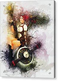 Aircraft Girl Acrylic Print