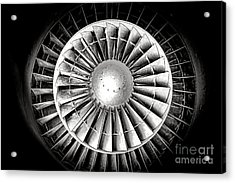 Aircraft Turbofan Engine Acrylic Print by Olivier Le Queinec