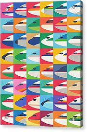 Airline Livery - Small Grid Acrylic Print