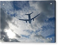 Airliner 01 Acrylic Print by Mark Alan Perry