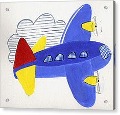 Airplane Acrylic Print by Christine Quimby
