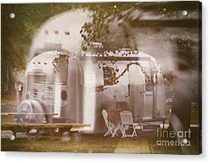 Airstream Double Acrylic Print by Susan Grube