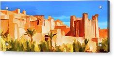 Ait Benhaddou Morocco Acrylic Print by Wally Hampton