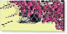 Aj Trash Art 6 Acrylic Print by Sharon Broucek