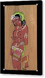 Acrylic Print featuring the painting Ajanta Cave Beauty  by Suhas Tavkar