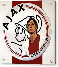 Ajax Amsterdam Painting Acrylic Print by Paul Meijering