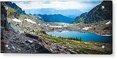 Acrylic Print featuring the photograph Akaiyan Lake by Alex Blondeau