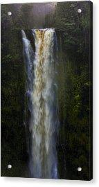 Acrylic Print featuring the photograph Akaka Falls by Ellen Heaverlo