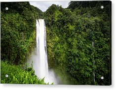 Acrylic Print featuring the photograph Akaka Falls by Ryan Manuel