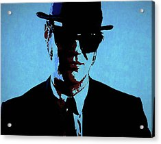 Akroyd Blues Brothers Acrylic Print by Dan Sproul