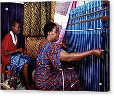 Akwete Weaving Acrylic Print