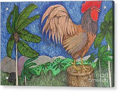 Al Cantio Del Gallo The Sing Song Of The Rooster From The Charivary Series Acrylic Print