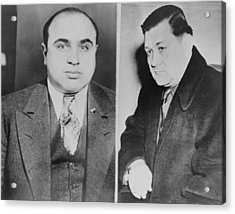 Al Capone Left And His Rival, George Acrylic Print by Everett