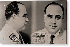 Al Capone Mugshot Acrylic Print by Dan Sproul
