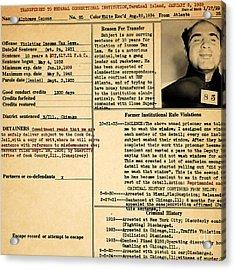 Al Capone Transfer Record Alcatraz Island To Terminal Island 20170518 Square Acrylic Print