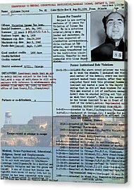 Al Capone Transfer Record Alcatraz Island To Terminal Island 20170518 V2 Acrylic Print