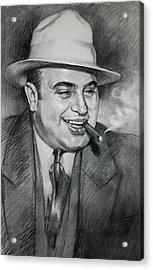Al Capone  Acrylic Print by Ylli Haruni