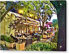 Acrylic Print featuring the photograph Al Fresco Dining by Chuck Staley