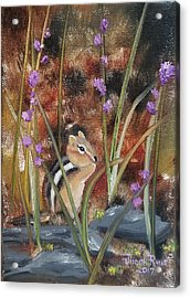 Acrylic Print featuring the painting Al Fresco Dining With A View by Judith Rhue