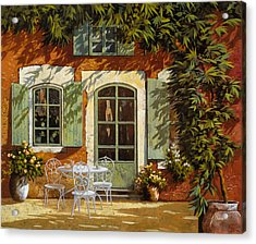 Al Fresco In Cortile Acrylic Print by Guido Borelli