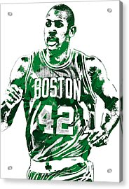 Al Horford Boston Celtics Pixel Art Acrylic Print by Joe Hamilton