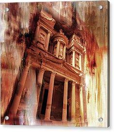 Al Khazneh Petra Jordan 01 Acrylic Print