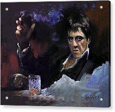 Al Pacino Snow Acrylic Print