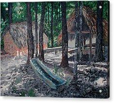 Alabama Creek Indian Village Acrylic Print by Beth Parrish