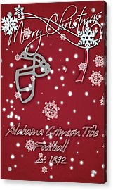 Alabama Crimson Tide Christmas Card 2 Acrylic Print