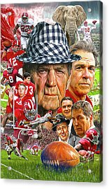 Alabama Crimson Tide Acrylic Print by Mark Spears