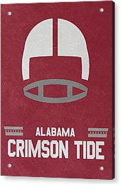 Alabama Crimson Tide Vintage Football Art Acrylic Print