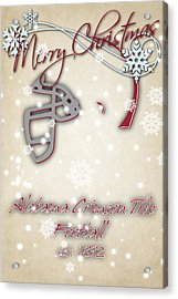 Alabama Cromson Tide Christmas Card Acrylic Print
