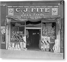 Alabama Feed Store Front, Sign Reads C Acrylic Print by Everett