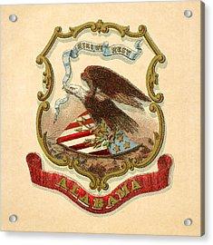 Alabama Historical Coat Of Arms Circa 1876 Acrylic Print by Serge Averbukh