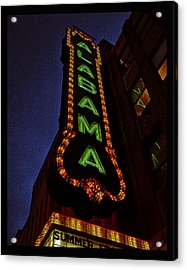 Alabama Lights Poster Acrylic Print