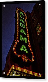 Alabama Lights Poster Narrow Format Acrylic Print