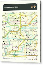 Alabama Map Acrylic Print