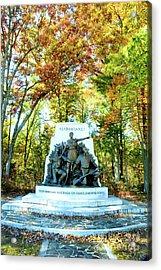 Alabama Monument At Gettysburg Acrylic Print