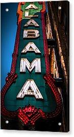Alabama Theater Sign 1 Acrylic Print by Phillip Burrow
