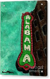 Alabama Theatre Acrylic Print by AnnaMarie Armstrong