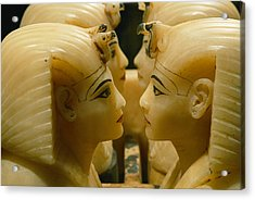 Alabaster Carvings Found In The Tomb Acrylic Print by Kenneth Garrett