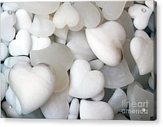 Alabaster Hearts Acrylic Print